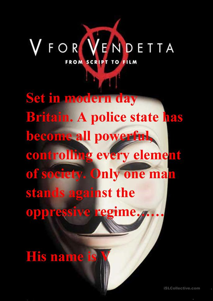 "v for vendetta film analysis essay Analysis of the movie ""v is for vendetta"" essay "" what is very remarkable of the film is that although the narrative is just analysis of v is for vendetta."