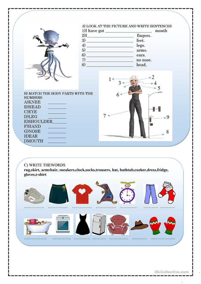 Warm-up Activities For Kids Worksheet