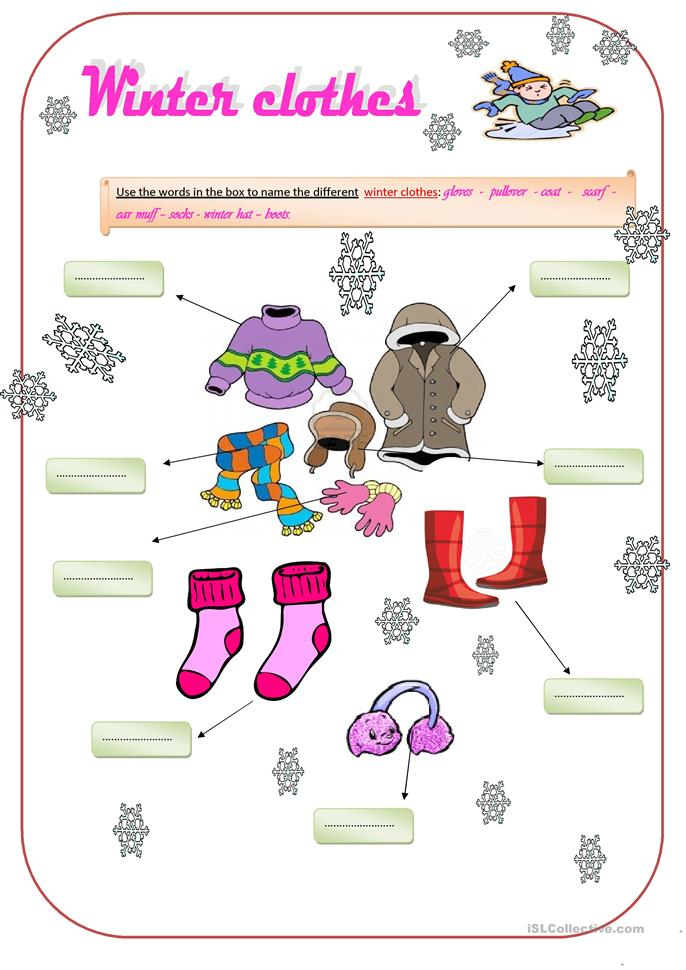 winter clothes worksheet free esl printable worksheets made by teachers. Black Bedroom Furniture Sets. Home Design Ideas