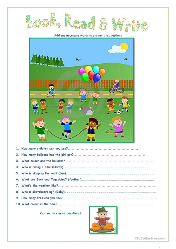 Look Read Write English Esl Worksheets For Distance Learning And Physical Classrooms