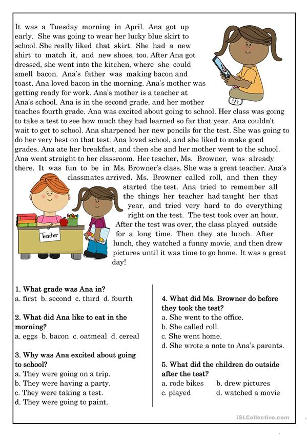 Reading Prehension For Beginner And Elementary Students