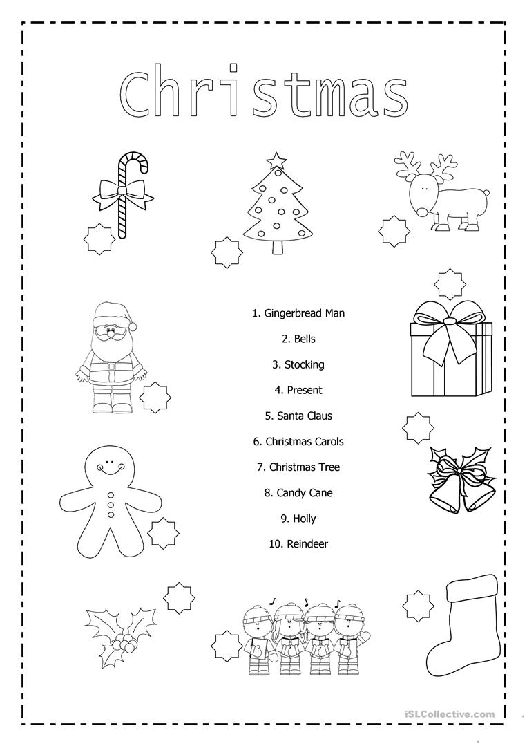 - Christmas Matching - English ESL Worksheets For Distance Learning