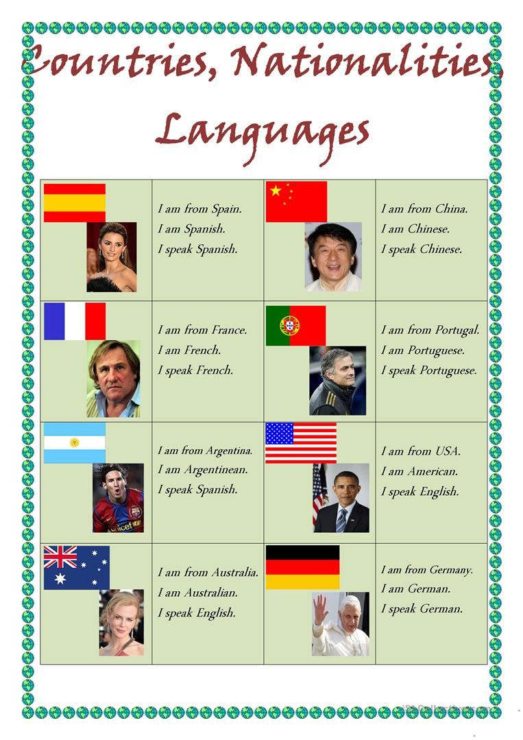countries and their languages pdf
