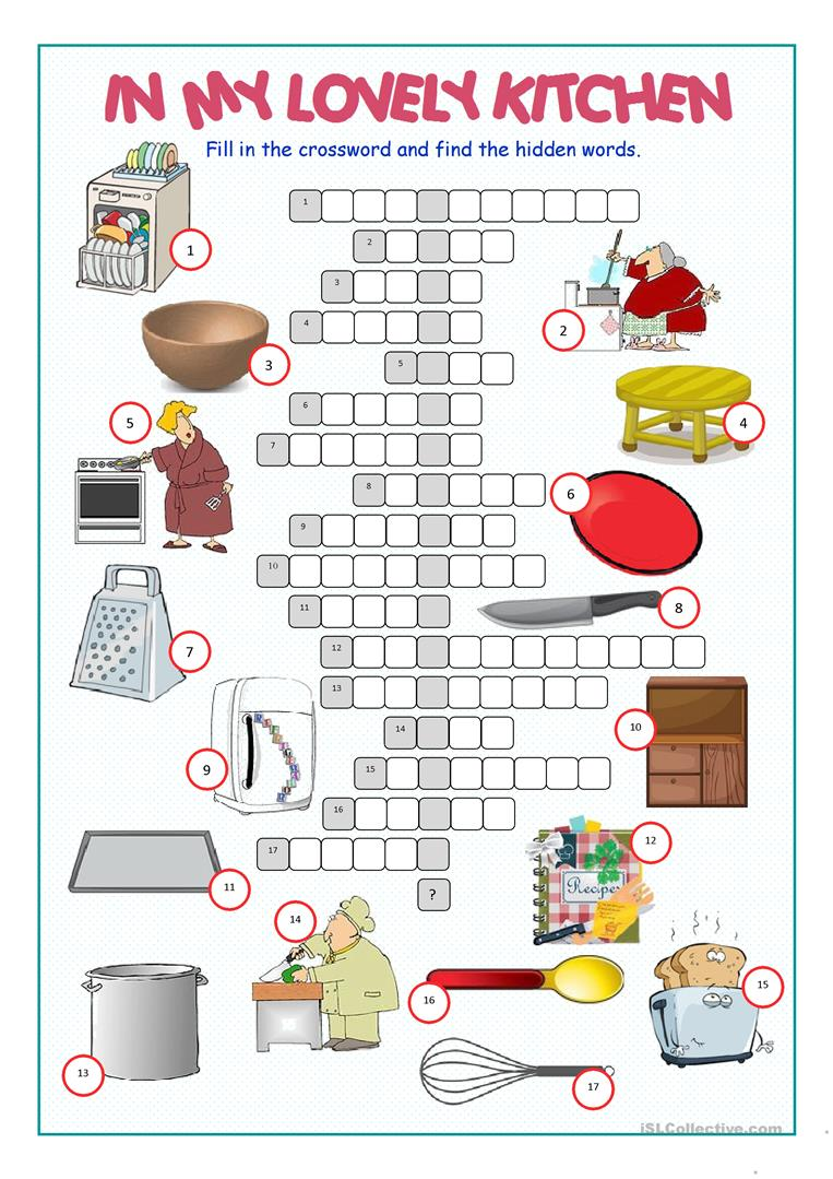Kitchen Utensils And Appliances Worksheet Answers