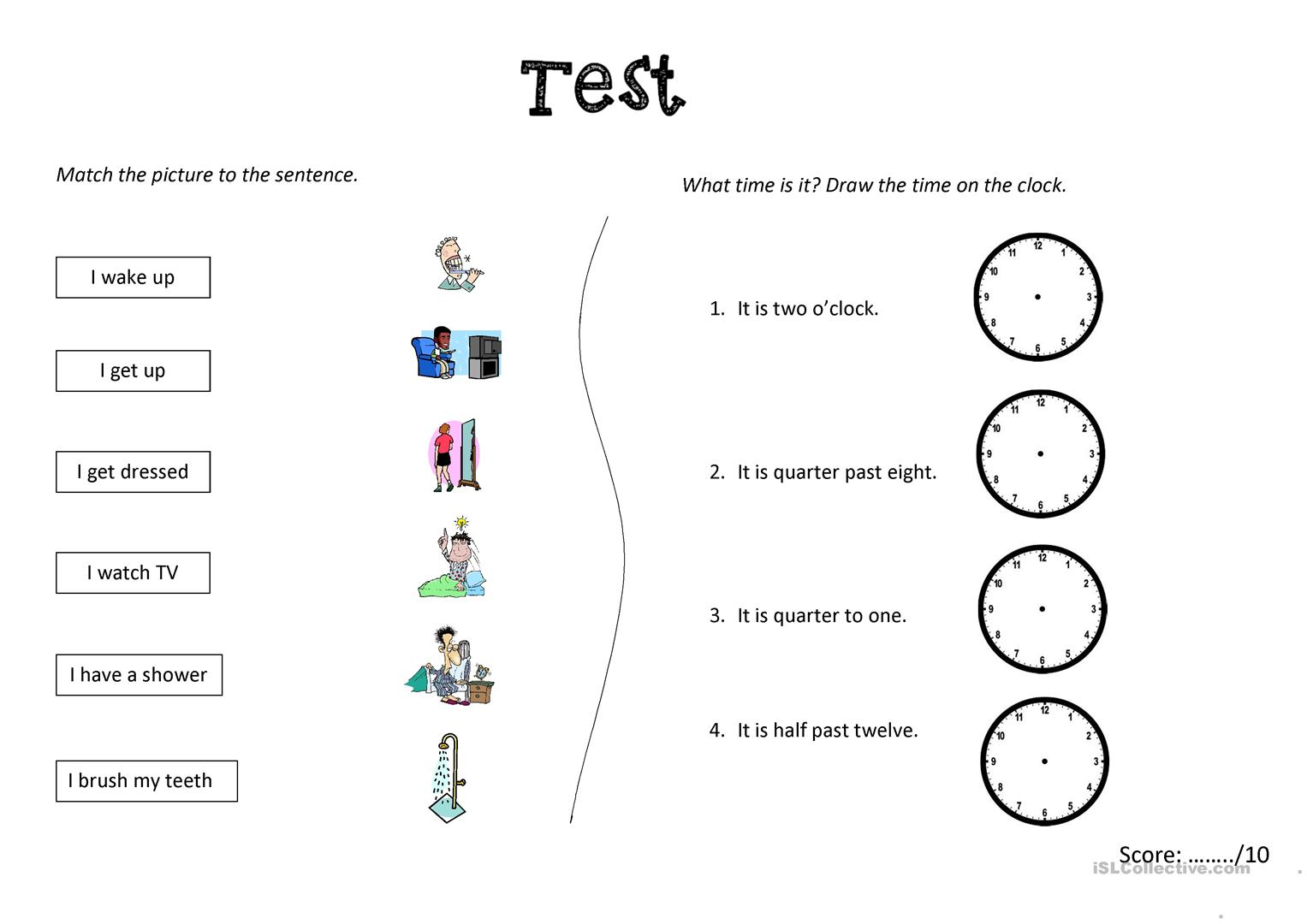 test x 3 versions daily routine and time worksheet free esl printable worksheets made by. Black Bedroom Furniture Sets. Home Design Ideas