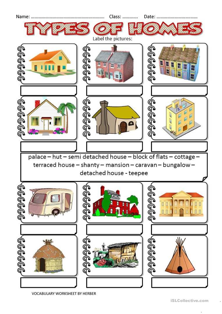 Types of houses worksheet house plan 2017 for Types of mansions