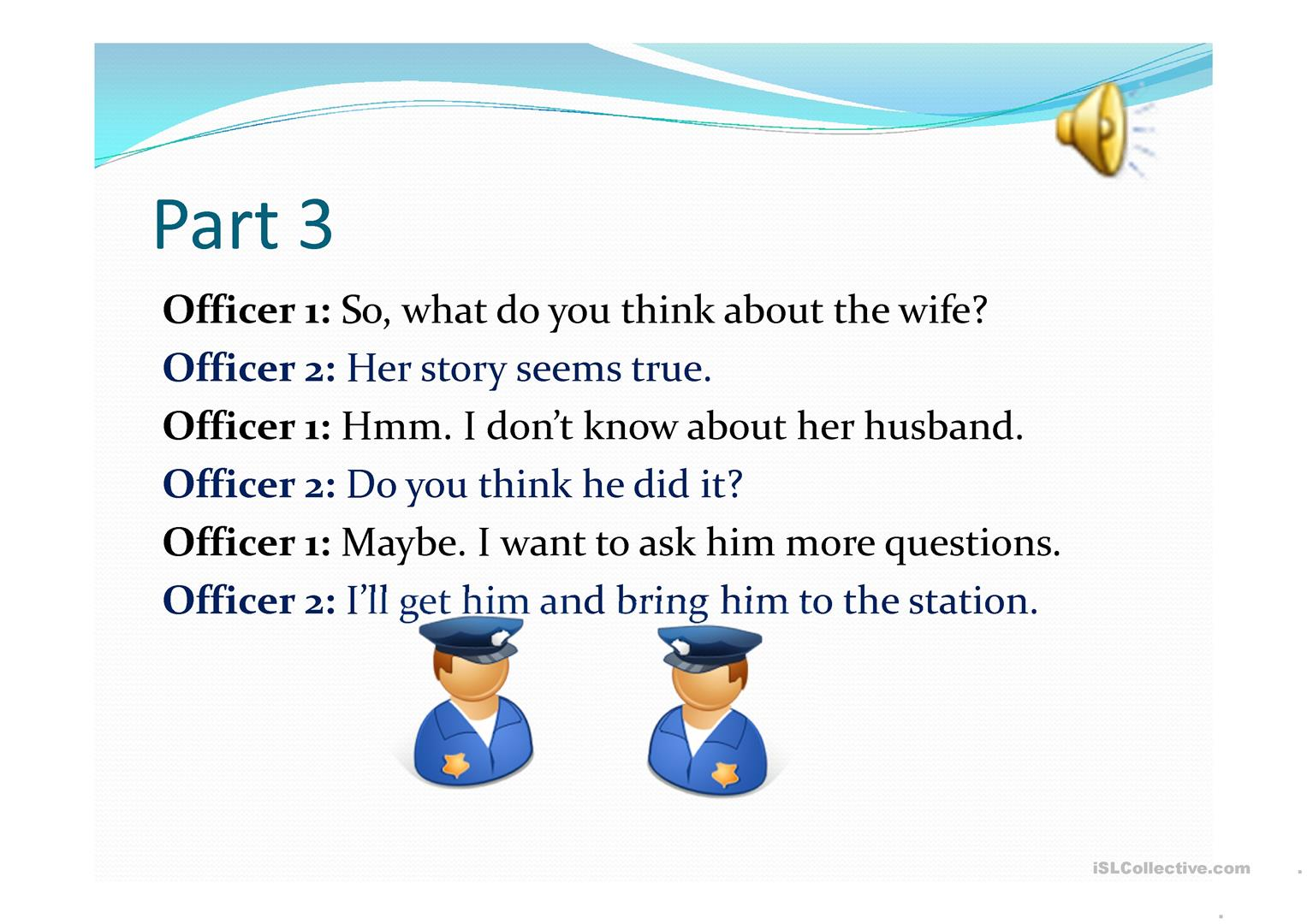 Who's the Thief Listening activity - English ESL Powerpoints