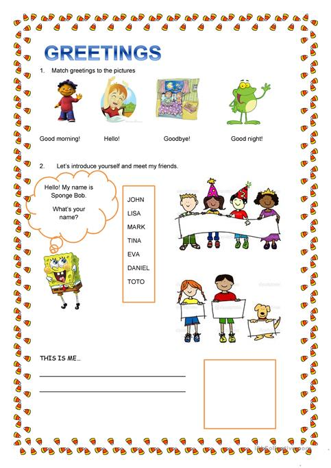 Greetings and introduce yourself worksheet free esl printable greetings and introduce yourself m4hsunfo