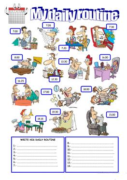 essay writing daily routine