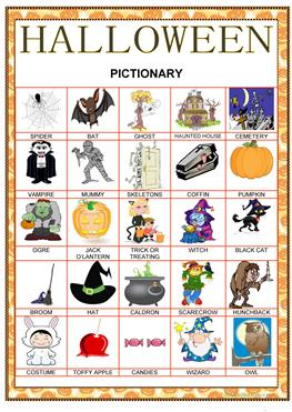 11 free esl halloween pictionary worksheets halloween pictionary solutioingenieria Image collections