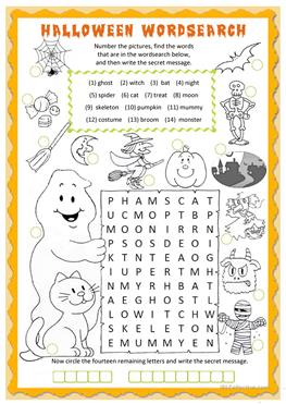 Printable Kindergarten Worksheets  Free Esl Word Search Worksheets Oi Worksheet Pdf with Practice With Exponents Worksheet Pdf Halloween Wordsearch  Esl Worksheets Halloween Wordsearch Connectives And Conjunctions Worksheets Word