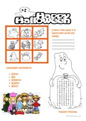 Halloween  crossword worksheet  Free ESL printable worksheets