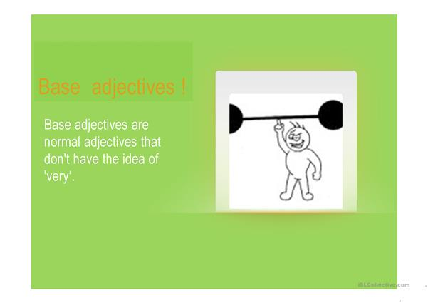 Base and strong adjectives