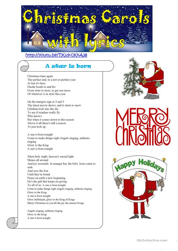 CHRISTMAS CAROLS WITH LYRICS