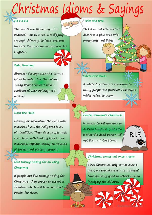 Christmas Idioms & Sayings