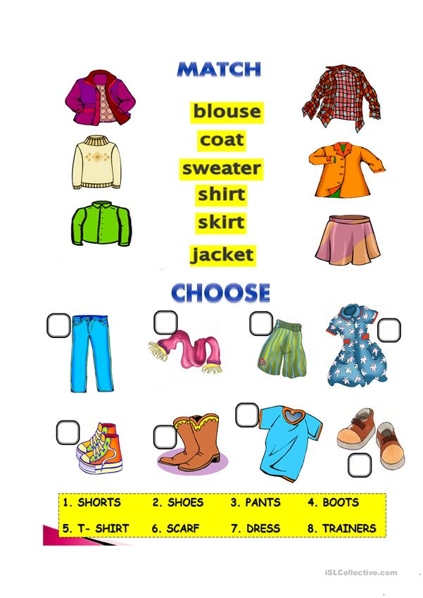 clothes-worksheet