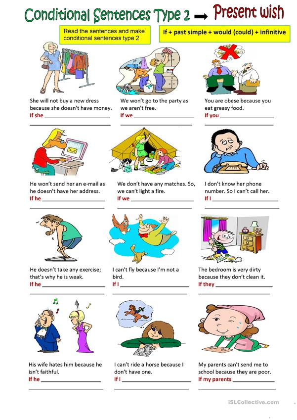 Conditional sentences type 2