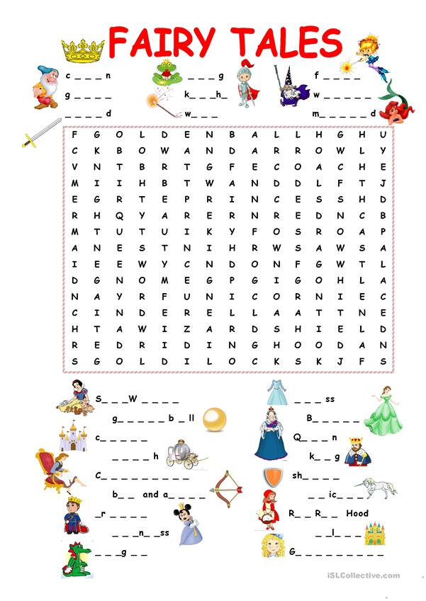 Fairy Tales.Wordsearch