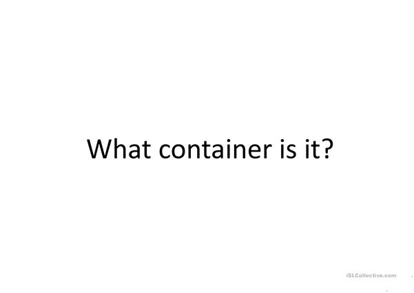 Food containers and portions
