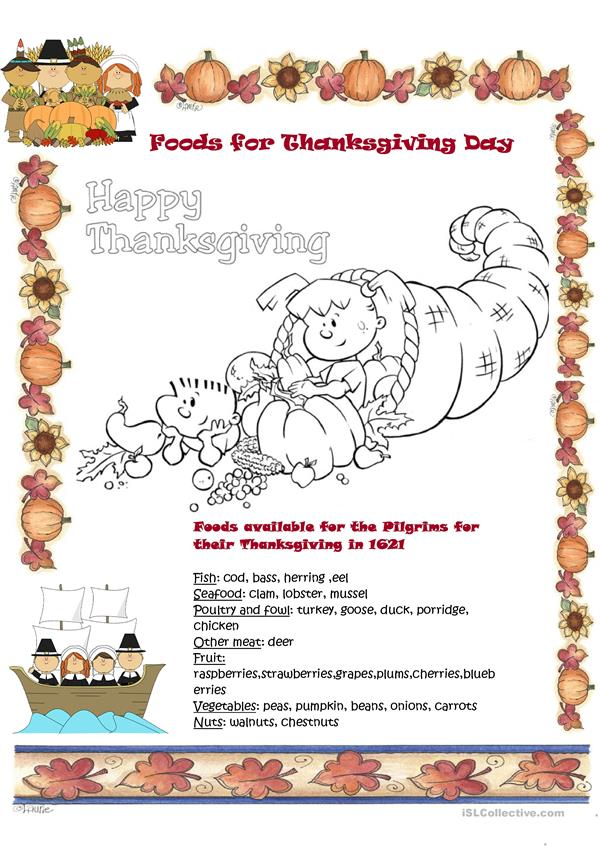 Foods for Thanksgiving Day