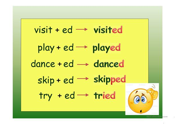 Past Simple - regular verbs