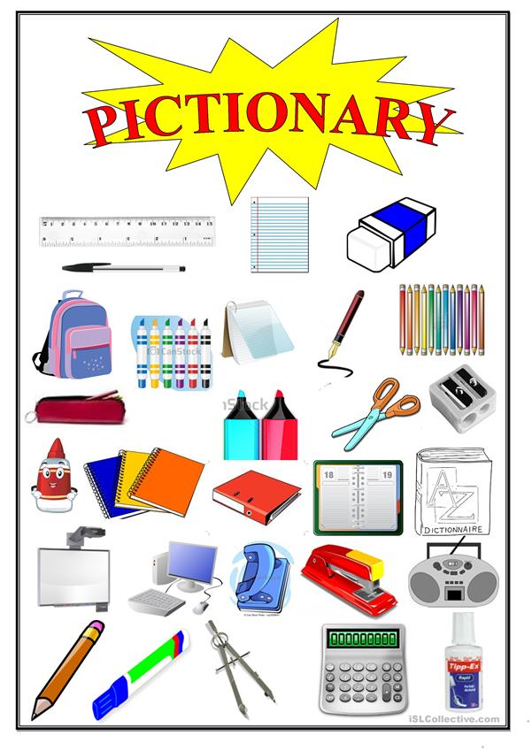 Pictionary School items