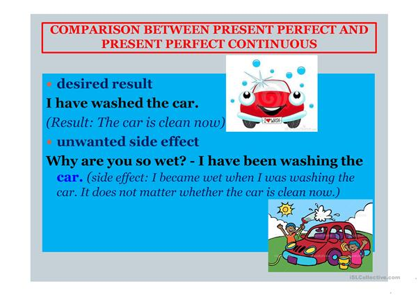 Present Perfect  and Perfect Continous tenses
