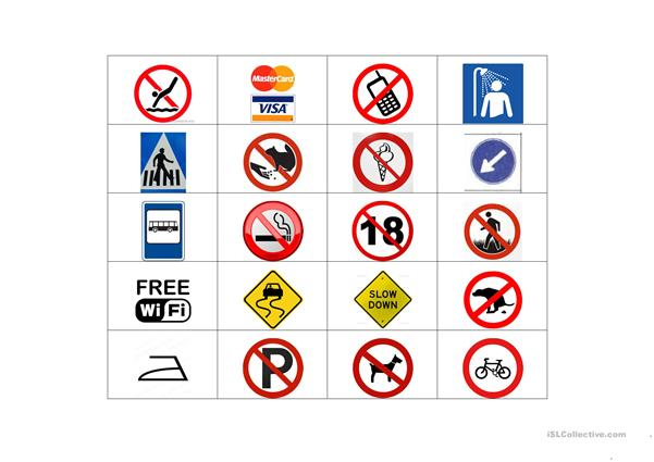Restriction signs