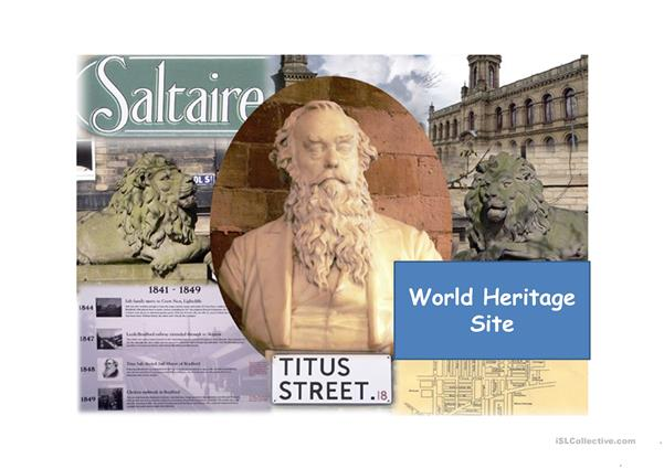 Saltaire, a world heritage site.