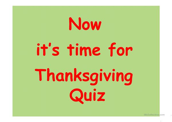 Thabksgiving Quiz