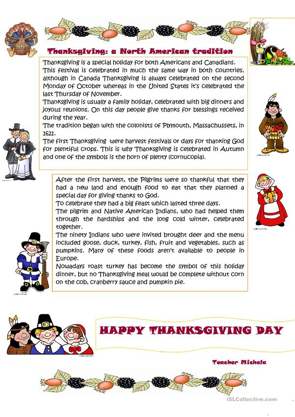 Thanksgiving: a North American tradition