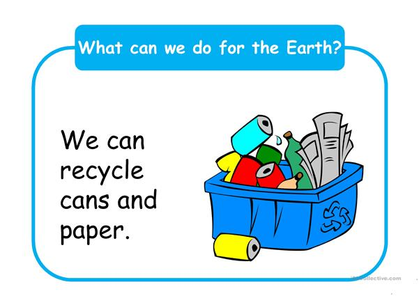 What can we do for the Earth?