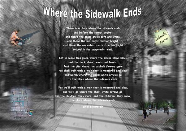 Where the Sidewalk ends.