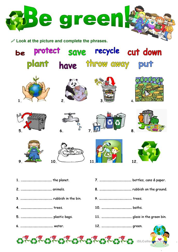 BE GREEN with GOING TO - ESL worksheets