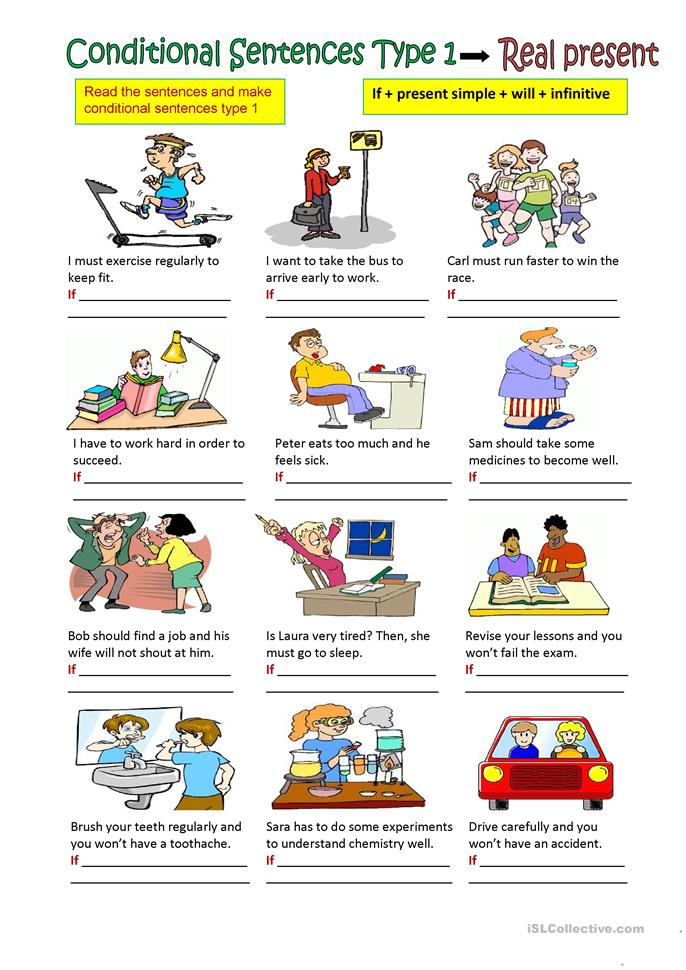 Conditional Sentences Type I Pictures to pin on Pinterest