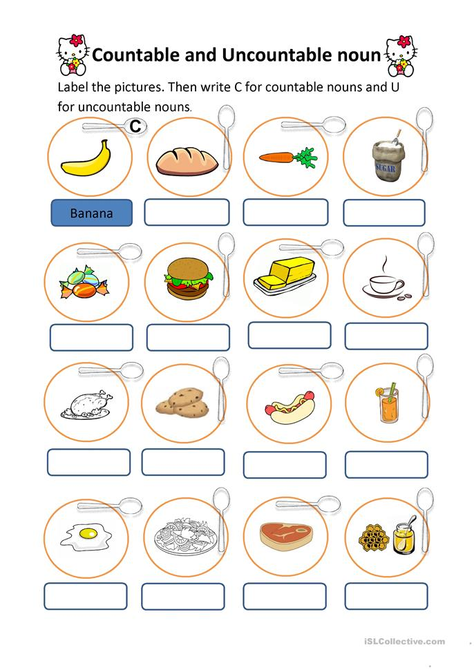 countable and uncountable nouns worksheet - Free ESL ...