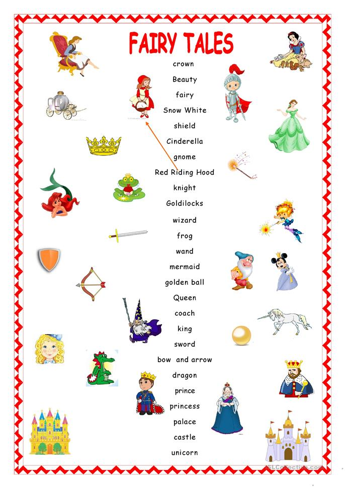 fairy tales matching worksheet free esl printable worksheets made by teachers. Black Bedroom Furniture Sets. Home Design Ideas