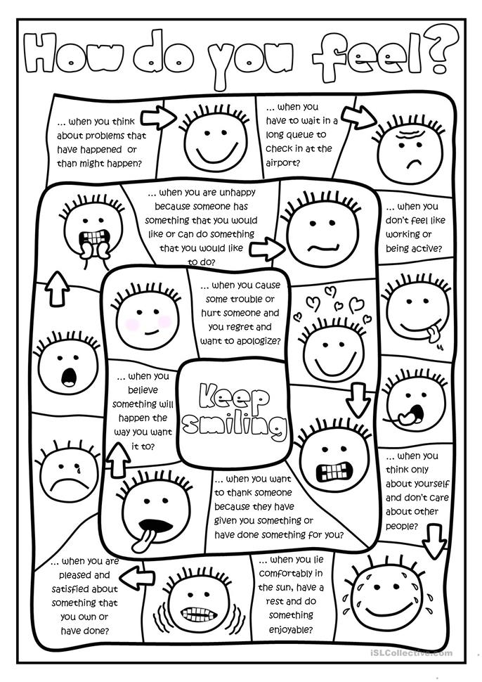 Printables Emotions Worksheets 50 000 free esl efl worksheets made by teachers for how do you feel board game