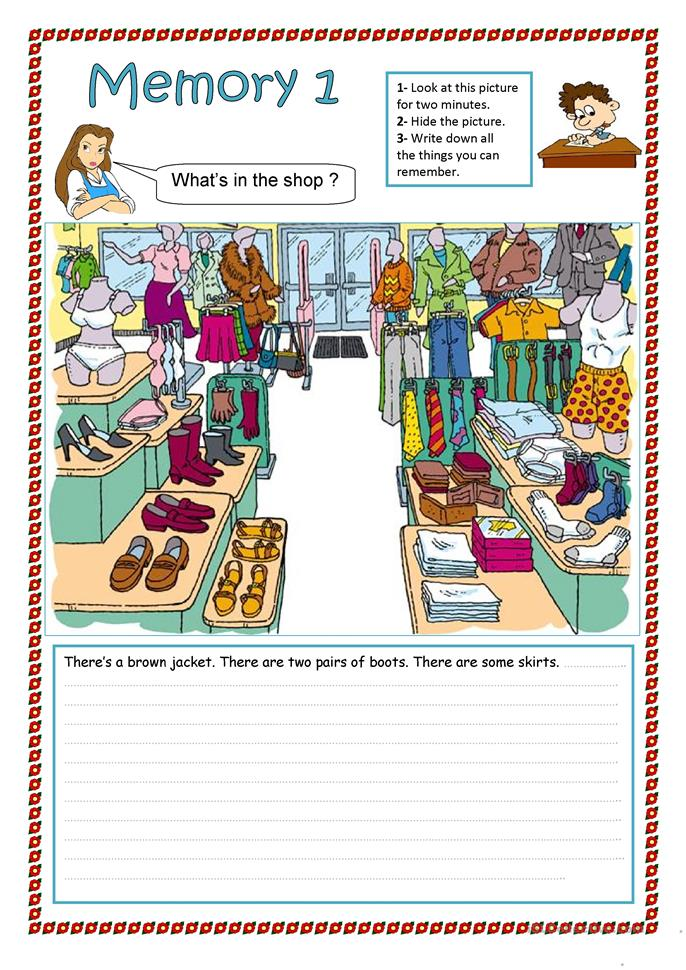 It is a picture of Witty Printable Memory Worksheets for Adults