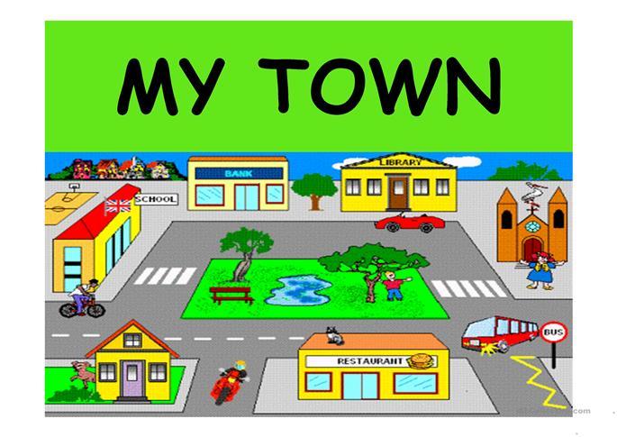 MY TOWN worksheet - Free ESL projectable worksheets made by teachers