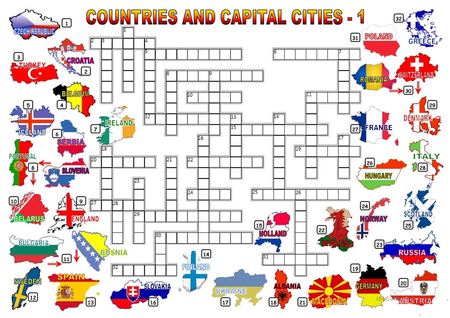 CAPITAL CITIES OF COUNTRIES PDF