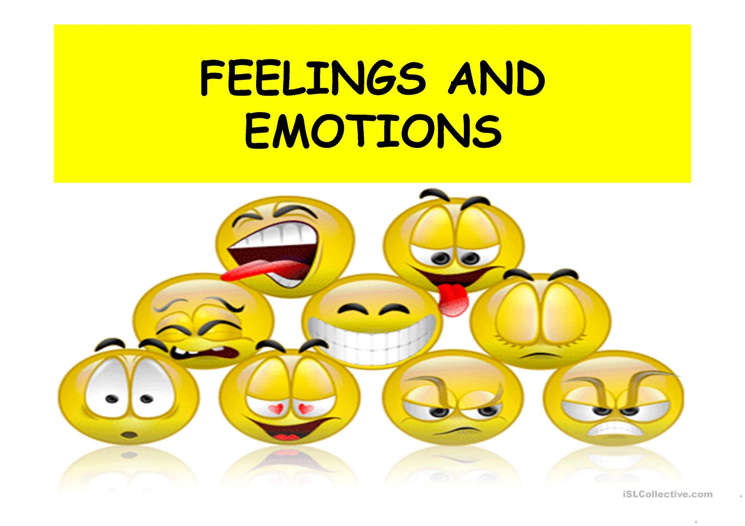 English Exercises: FEELINGS EMOTIONS Pictures with words about feelings