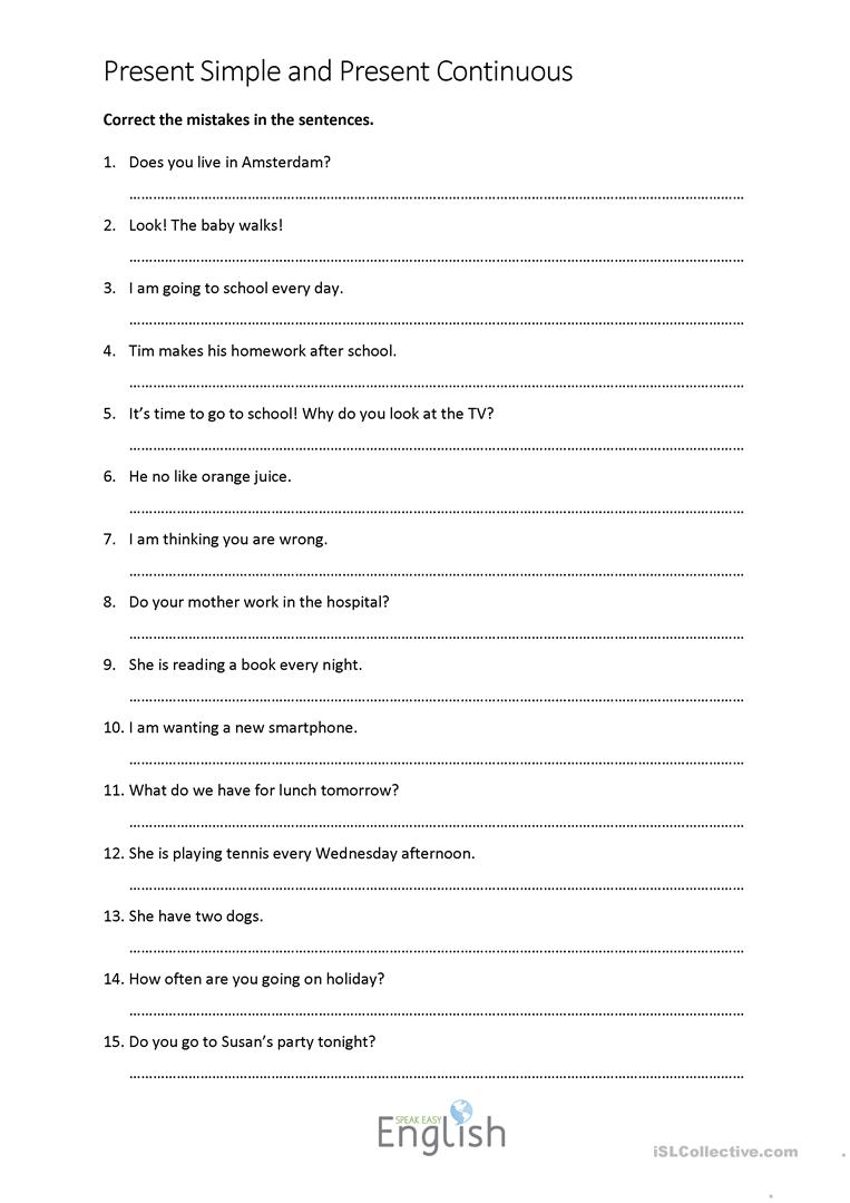 Worksheets Correct Grammar Worksheets 11 free esl correct grammar worksheets