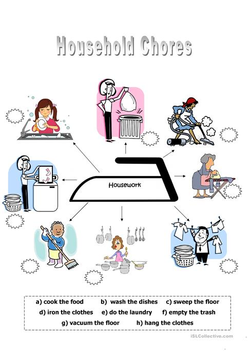 House Chores Word Search Puzzle