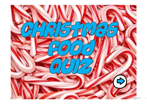 CHRISTMAS FOOD QUIZ