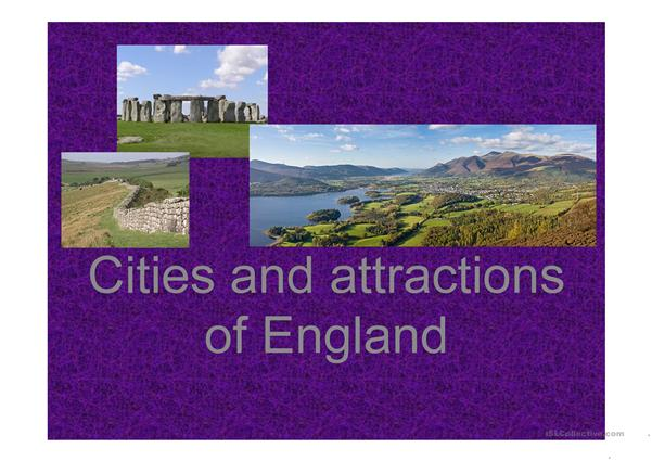 Cities and Attractions of England