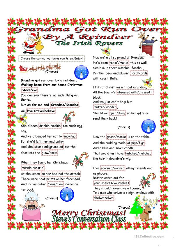 Grandma Got Run Over By A Reindeer by The Irish Rovers