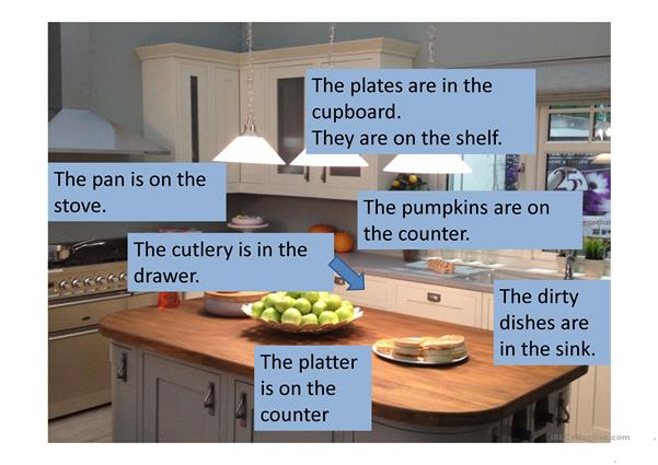 Kitchen with Prepositions