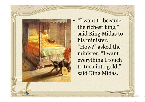 Legend about King Midas
