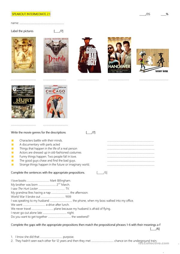 Movies, Past simple vs Present perfect quiz